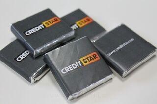 Ettevõtte logoga šokolaadid CreditStar